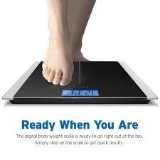 Eatsmart Digital Bathroom Scale Uk by Amazon Com Etekcity Digital Body Weight Bathroom Scale With Step