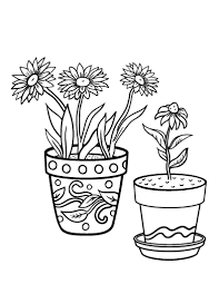 Printable Flower Pot Coloring Page Free PDF Download At Coloringcafe