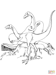 Click The Oviraptors Stealing Dinosaurs Eggs Coloring Pages To View Printable