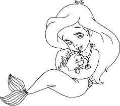 Disney Princess Babies Coloring Pages