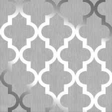 Metallic Tile Effect Wallpaper by Shimmer Metallic Wallpaper From I Love Wallpaper