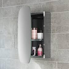 soak moderner spiegelschrank aus edelstahl für das badezimmer badschrank mit spiegel 45 x 60 cm eine tür oval einfache montage
