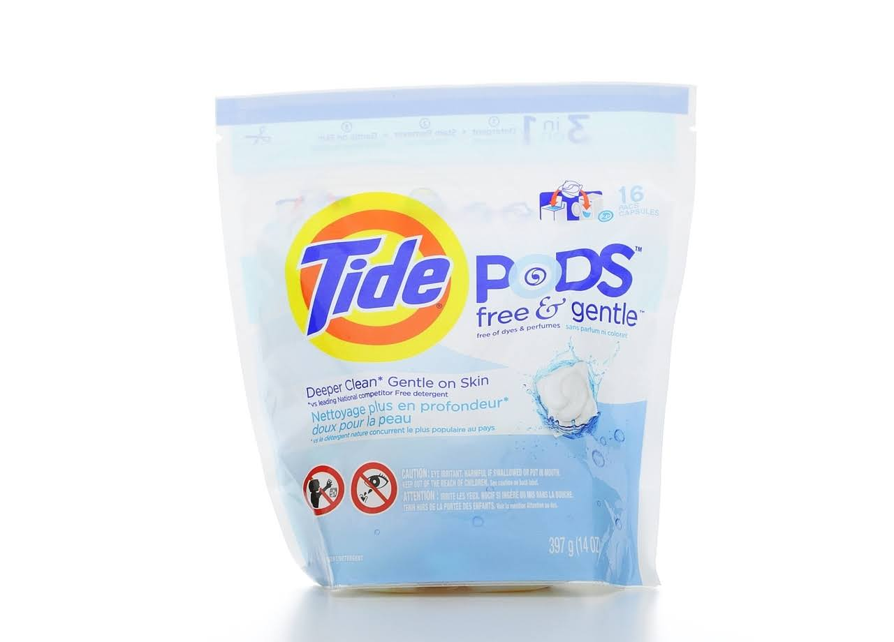 Tide Pods Laundry Detergent - Free and Gentle, 14oz, 16ct