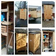 Large Shipping Crate Turned Into Outdoor Tool Storage Just Add Pitched Roof And Hinges