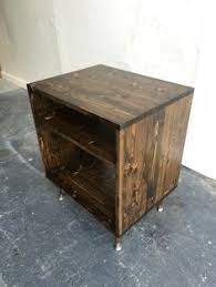 distressed wooden crate rolling toy chest large storage box toy