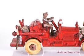 Hubley Ahrens Fox Cast Iron Fire Engine, Large 11