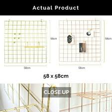 PROMO ONLY S1990 GOLD ROSE Wire Wall Grid Mesh Board Set Home Furniture Decor On Carousell