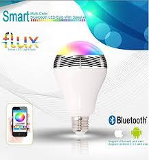 flux melody bluetooth speaker light bulb smart led color