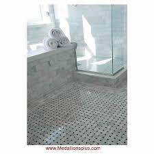 carrara marble basket weave polished mosaic tiles medallionsplus