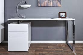 bureau blanc laqu design bureau informatique design laqu blanc hortense bureau bureau