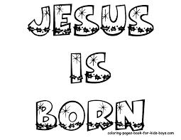 Christmas Coloring Page Jesus