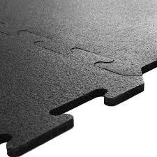 Creative of Interlocking Rubber Floor Tiles Interlocking Black
