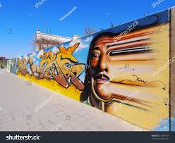 Famous Spanish Mural Artists by Figueres Spain April 14 Graffiti Showing Stock Photo 156897167