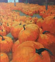 Pumpkin Patch Portland Maine by Daniel J Corey Art Collector Maine