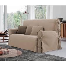 couvre canapé 3 places housse de canapé 3 places à nouettes en coton pas cher à prix auchan
