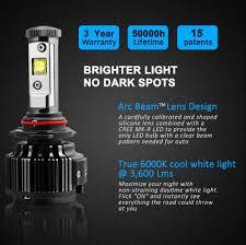 1pair 60w led 9005 headlight bulbs 6k 8k white light hid