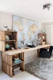 a bunch of desks made out of wooden pallets pallets euroalused