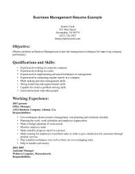 Business Resume Management Example Examples Of Resumes X Medium Size