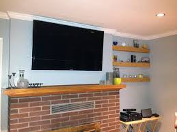 Primitive Decorating Ideas For Fireplace by Flat Screen Installation On A Brick Wall Or Fireplace Neuwave The
