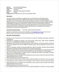Account Receivable Manager Resume