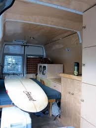 Stealth DIY Sprinter Camper Interior Looking Rearwards