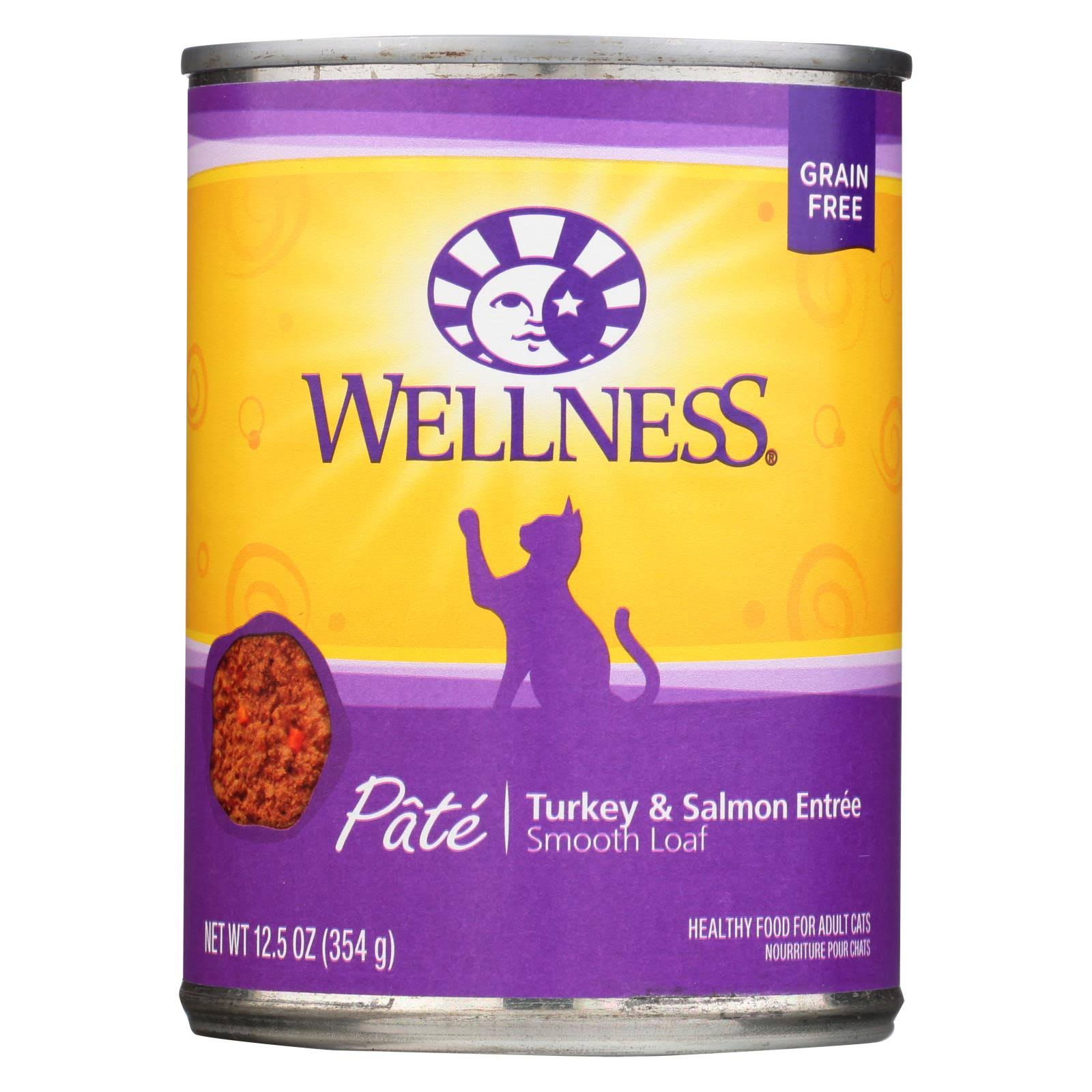 Wellness Turkey & Salmon Formula canned Cat Food 12 oz