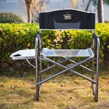 Timber Ridge Folding Lounge Chair by Timberridge Aluminum Portable Director U0027s Folding Chair With Side