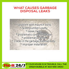 is your garbage disposal leaking here are some of the most common