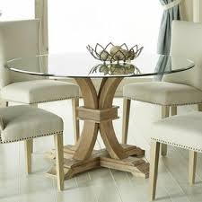 Beautiful Design Ideas Round Glass Dining Table And Chairs 18