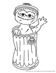 Oscar The Grouch Coloring Pages Free At Kids Fun And Games