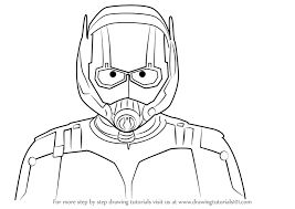 Learn How To Draw Ant Man Face Marvel Comics Step By Drawing Tutorials