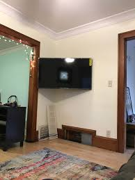Table For Under Wall Mounted Tv Ideas A Console TV
