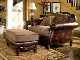 Buchannan Faux Leather Sectional Sofa by Ash Wood Trim Chenille Faux Leather Sofa Couch Set Living