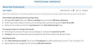 Hair Stylist Resume: Complete 2019 Guide With 10+ Examples ... Hair Stylist Resume Example And Guide For 2019 Templates Hairylist Ckumca Sample Job Requirements At Cover Letter Examples Best Livecareer Livecareer Skills Ylist Resume Examples Magdaleneprojectorg Photo Samples Velvet Jobs Writing Services Kalgoorlie Olneykehila Fashion Guide 20 Tips