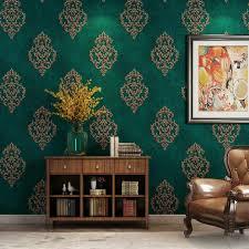 europäischen 3d geprägte tapete luxus grau beige pfau grün