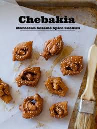 chebakia moroccan sesame spice cookies spoon fork bacon
