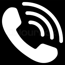 Phone Call vector icon Style is flat symbol white color rounded