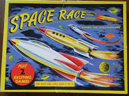 Space Race Board Game Vintage Retro Atomic Just Peachy Darling