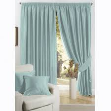Duck Egg Blue Silk Curtain Fabric