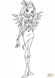 Winx Club Diaspro Fairy Coloring Page For Pages Online
