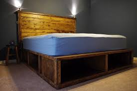 alluring king bed frame with drawers plans and cal king platform
