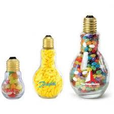 promotional light bulb shaped glass jars