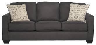 alenya charcoal comtemporary track arm queen sofa sleeper by