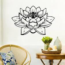 großhandel buddha lotus wandaufkleber badezimmer wasserdicht vinyl wandtattoos wohnkultur innenwand glas dekoration moderndecal 4 75 auf