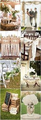45 Chic Rustic Burlap Lace Wedding Ideas And Inspiration Pinterest