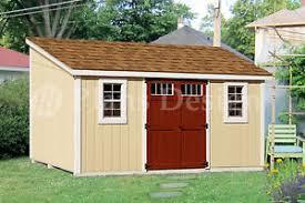 10 x 14 storage shed plans slant lean to d1014l material
