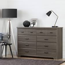 South Shore Furniture Dressers by South Shore Versa 8 Drawer Gray Maple Dresser 10606 The Home Depot