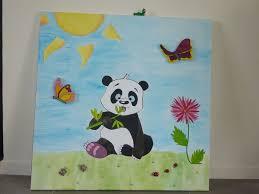 tableau pour chambre bébé déco de la chambre de bébé le tableau panda l atelier de