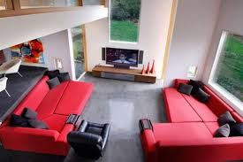 Red And Black Living Room Ideas by Red And Black Living Room Set Large Mahogany Wood Book Rack Grey