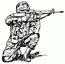 Army Coloring Pages Soldier Shooting